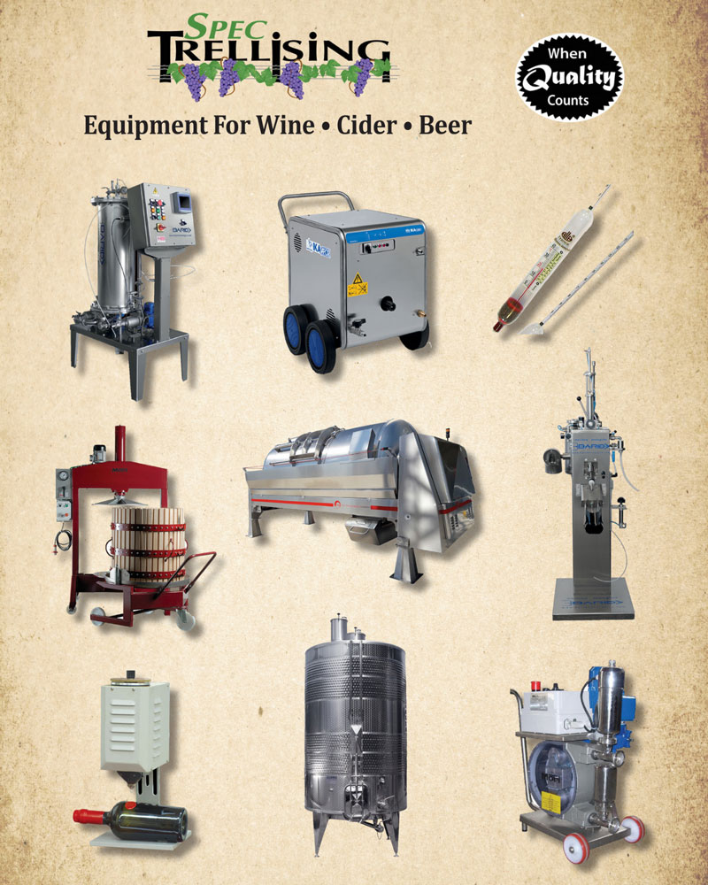 2019 Spec Trellising Winemaking Catalog